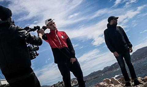 tournage d'un clip video de musique pour un rappeur marseillais