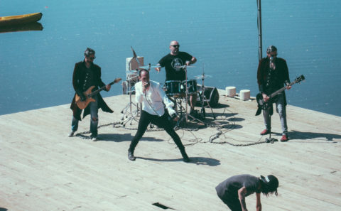 tournage d'un clip video pour un groupe de musique